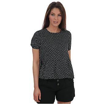 Naiset's Vero Moda Fie Polka Dot Top mustassa