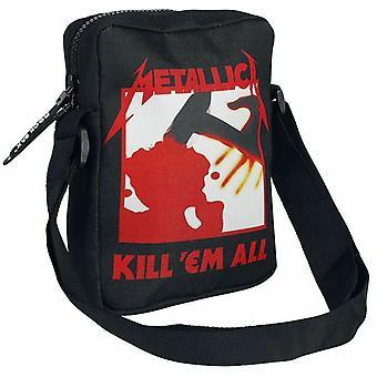 Bolsa Metallica de Rock Sax | Kill Em All Song Negro Cross-Body Bag | Mercancía de banda de música de un solo tamaño