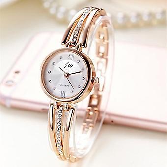 Stainless Steel- Rhinestone Bracelet, Quartz Dress Watches