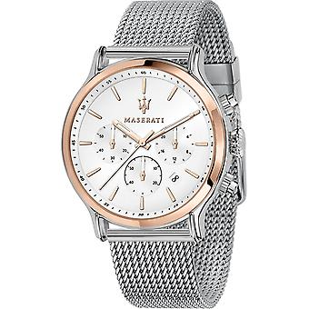 Maserati R8873618009 Men's Epoca Chronograph Steel Mesh Wristwatch