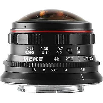 Wokex MK-3.5mm f2.8 Ultra Wide Circular Fisheye Objektiv für Olympus Panasonic Lumix MFT Micro 4/3 Mount