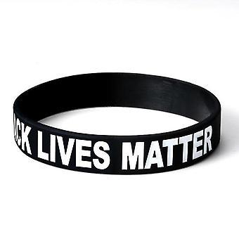 Schwarze Leben Materie weiche Silikon motivierende Armband inspirierend mit