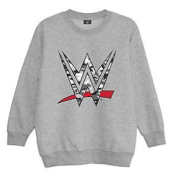 WWE Boys Camo Logo Heather Sweatshirt