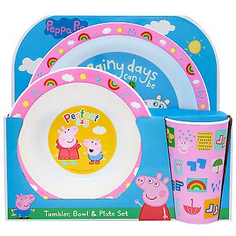 Peppa Pig Perfect Day 3 Piece Tableware Set