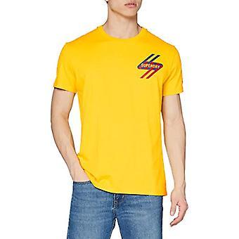 سوبردري سبورتستايل جرافيك تي شيرت، الأصفر البحري، XL الرجال