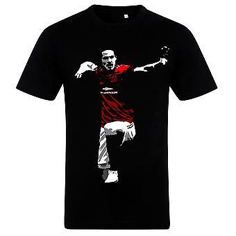 Football Legend Edinson Cavani T-Shirt in Manchester United Home Kit
