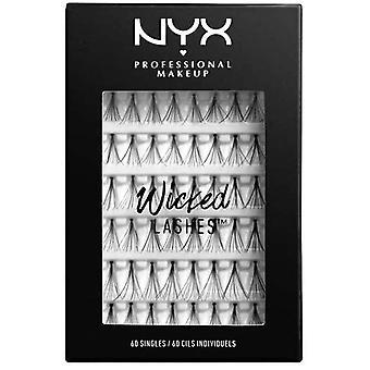 NYX Professional Make Up NYX Wicked False Lashes 60 Singles Zwart