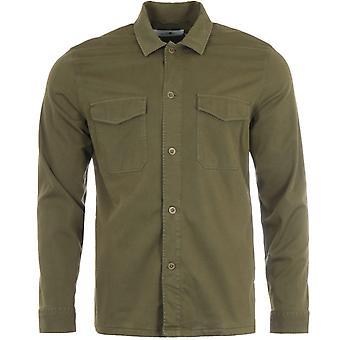 NN07 Bernard Lyocell Viscose Overshirt - Army Green