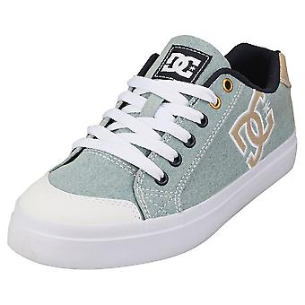 DC Shoes Chelsea Plus Tx Se Womens Casual Trainers in Moonlight Blue White