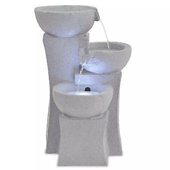 vidaXL kamerfontein met LED verlichting polyresin
