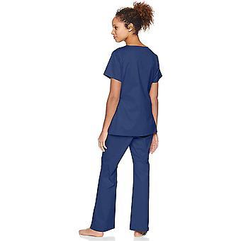 Essentials Top scrub elasticizzato a secco rapido da donna, navy, X-Small