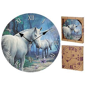 Lisa Parker Die Reise nach Hause Einhorn Picture Clock