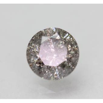 Cert 1.29 Carat Natural Fancy Intense Silver SI3 Round Brilliant Natural Loose Diamond 6.7mm 3VG