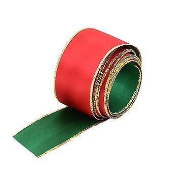 Рождественское украшение Лента Классический красный и зеленый