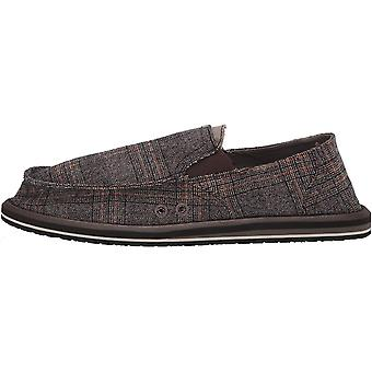Sanuk Men's Pick Pocket Plaid Loafer