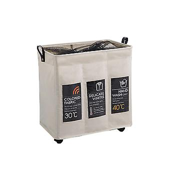 Swotgdoby Foldable Cloth Dirty Clothes Hamper With Wheels, Breathable Cover
