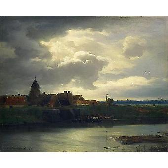 Landschaft mit einem Fluss,Andreas Achenbach