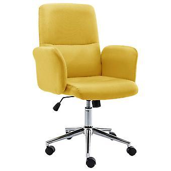 vidaXL مكتب رئيس النسيج الأصفر