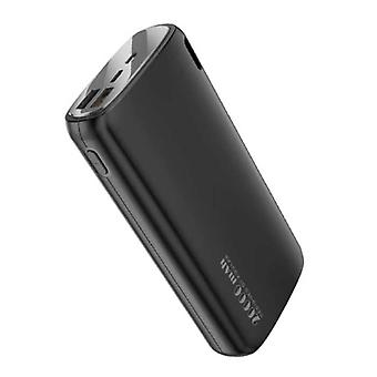 Kuulaa Powerbank 20.000mAh - 2.1A with 2 USB Ports - External Emergency Battery Charger Charger Black