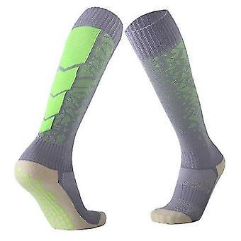 Sokker knæ høj kompression sokker anti-slip håndklæde sål fodbold sokker fugttransporterende kører basketball yoga atletisk sokker til mænd kvinder