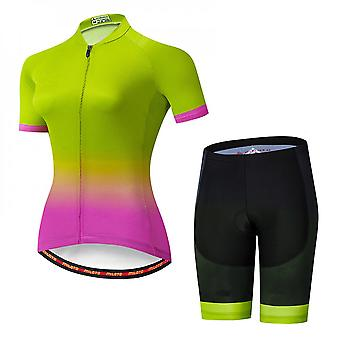 Woman Cycling Bike Jersey Short Sleeve With 3 Rear Pockets