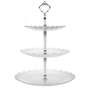 3 Tier Cake Stand Molds , Fruit Tray(Transparent)