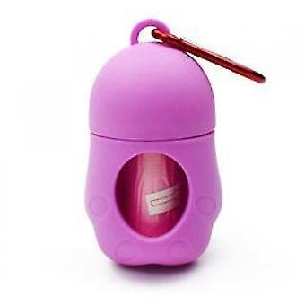 Dog Toilet Picker Garbage Bag Penguin Garbage Box(Purple)