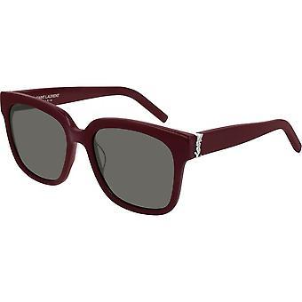 Saint Laurent Slm40 006 54 Monogram Bourgogne og Sølv solbriller