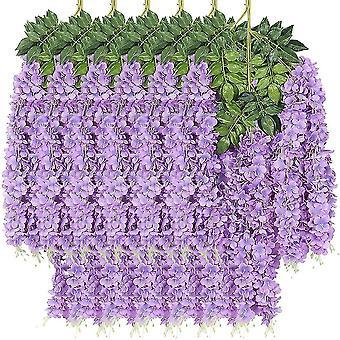 Flor artificial Ratta Pendurado Garland Seda Wisteria Flores