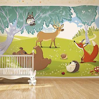 Papier peint pour enfants - Animaux joyeux