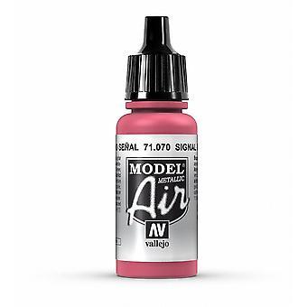 Vallejo Model Air 70 Signal Red (Metallic) - 17ml Acrylic Airbrush Paint