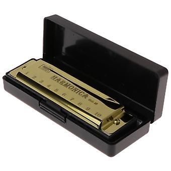 10 ثقوب مفتاح C البلوز هارمونيكا آلة موسيقية لعبة تعليمية مع حالة