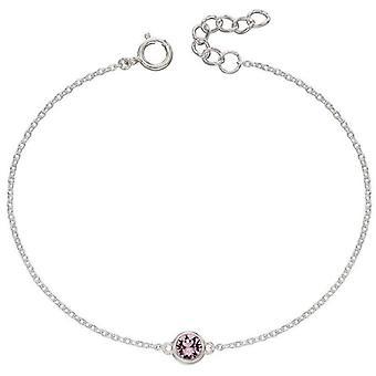 Débuts Juin Bracelet Pierre de Naissance - Argent/Rose Clair
