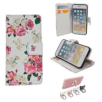 Iphone 5/5s/se2016 Leather Case Wallet - Flowers