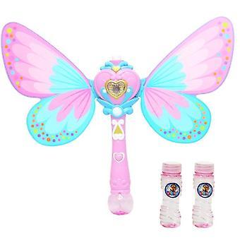 Kinder Schmetterling Automatische Blasenmaschine Geburtstag Hochzeitsfeier Spielzeug Outdoor Kinder (Pink)