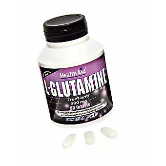 Health Aid L-Glutamine 500mg, 60 Tablets