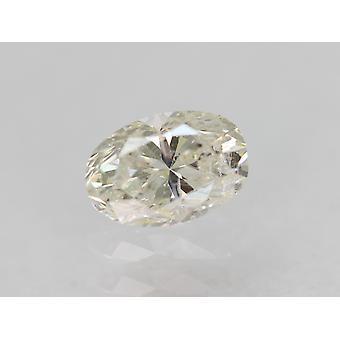 Certified 0.31 Carat F SI2 Oval Enhanced Natural Loose Diamond 4.97x3.37mm