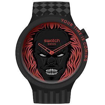 fargeprøve sb01b128 din tid kommer svart og rød silikon klokke