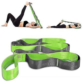 Yoga mat bags straps yoga stretch straps for physical therapy  pilates stretching exercise bands non-elastic multi loops