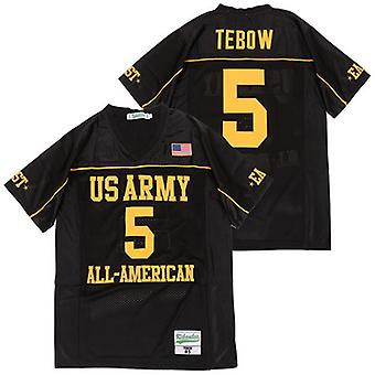 Hommes Tim Tebow #5 All American Football Jersey Outdoor Sportswear, Stitched Movie Football Jerseys Sports Short Sleeve T-shirt Taille S-xxxl