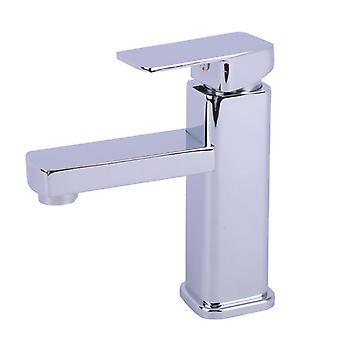 Robinet de salle de bain, design moderne de robinet d'évier en cascade, conception de corps de valve en cuivre durable, laiton chromé. Eau chaude et froide disponible