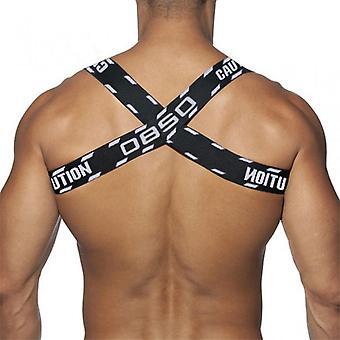 Soutien musculaire de la poitrine Corset Black Arm Band Double Épaule pour hommes Redresseur de bossu pour la fête