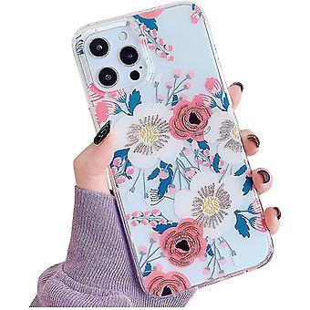 Iphone  12 Pro Max Transparent Flora Case