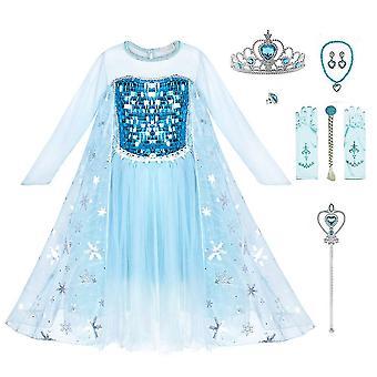 Kostým Snehovej princeznej Princezná zdobiť na dievčenskú párty narodeniny Cosplay