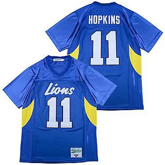 Менс Деандре Хопкинс #11 средней школы футбол Джерси Открытый Спортивная одежда, Сшитые фильм Футбол Джерсис Спорт Короткие рукава футболка Размер S-xxxl