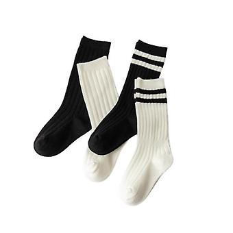 4ks Detské bavlnené športové futbalové futbalové tím ponožky Uniform Tube Ponožky Boys Girls