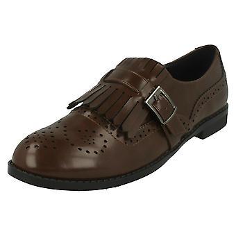 Mancha de senhoras no Brogue estilo Slip em sapatos F80108