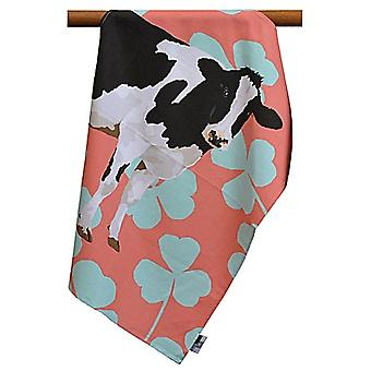 Leslie Gerry Friesian Cow Design Tea Towel