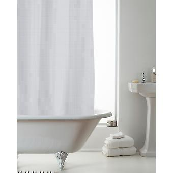 Country Club Waffle Shower Curtain with Liner, Grey 180 x 180cm