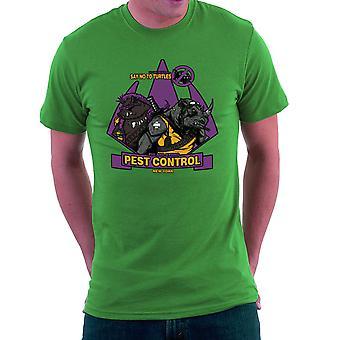 Pest Control Bebop and Rocksteady Teenage Mutant Ninja Turtles Men's T-Shirt